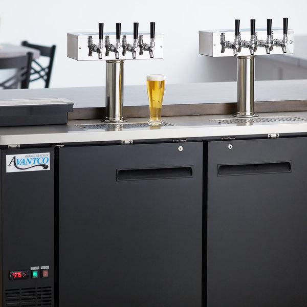 Avantco UDD-60-HC (2) Four Tap Shallow Depth Kegerator Beer Dispenser - Black, (2) 1/2 Keg Capacity Main Image 8