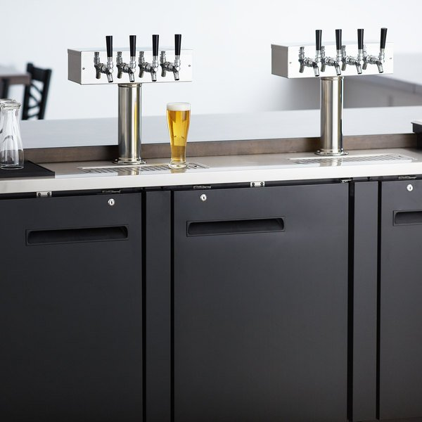 Avantco UDD-4-HC (2) Four Tap Kegerator Beer Dispenser - Black, (4) 1/2 Keg Capacity Main Image 8