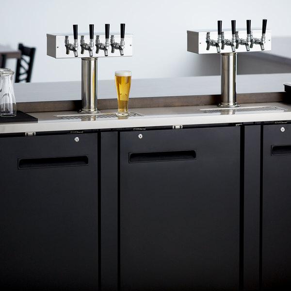Avantco UDD-72-HC (2) Four Tap Shallow Depth Kegerator Beer Dispenser - Black, (3) 1/2 Keg Capacity Main Image 8