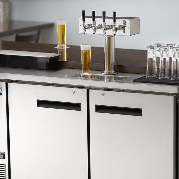 Avantco UDD-2-HC-S Four Tap Kegerator Beer Dispenser - Stainless Steel, (2) 1/2 Keg Capacity
