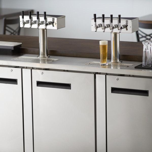 Avantco UDD-4-HC-S (2) Four Tap Kegerator Beer Dispenser - Stainless Steel, (4) 1/2 Keg Capacity
