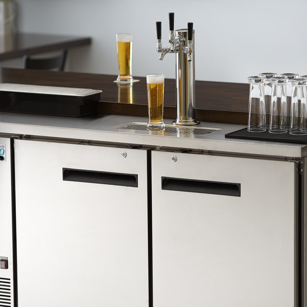 Avantco UDD-2-HC-S Triple Tap Kegerator Beer Dispenser - Stainless Steel, (2) 1/2 Keg Capacity Main Image 8