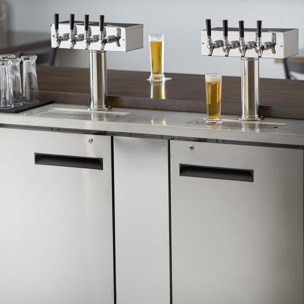 Avantco UDD-3-HC-S (2) Four Tap Kegerator Beer Dispenser - Stainless Steel, (3) 1/2 Keg Capacity Main Image 8
