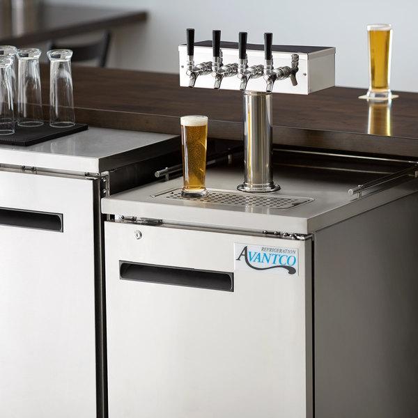 Avantco UDD-1-HC-S Four Tap Kegerator Beer Dispenser - Stainless Steel, (1) 1/2 Keg Capacity Main Image 7