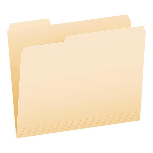 Pendaflex PFX 752 1/3 Letter Size File Folder - Standard Height with 1/3 Cut Assorted Tab, Manila - 100/Box Main Image 1
