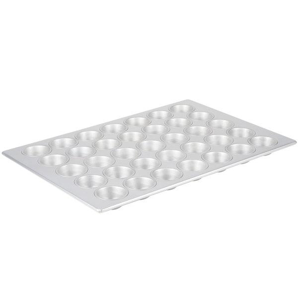 35 Cup 3.8 oz. Glazed Aluminized Steel Muffin / Cupcake Pan - 17 7/8 inch x 25 7/8 inch