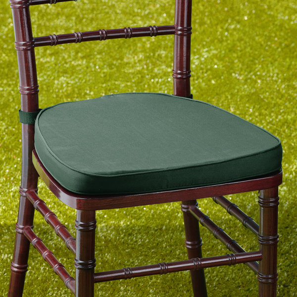 "Lancaster Table & Seating Hunter Green Chiavari Chair Cushion - 2"" Thick"