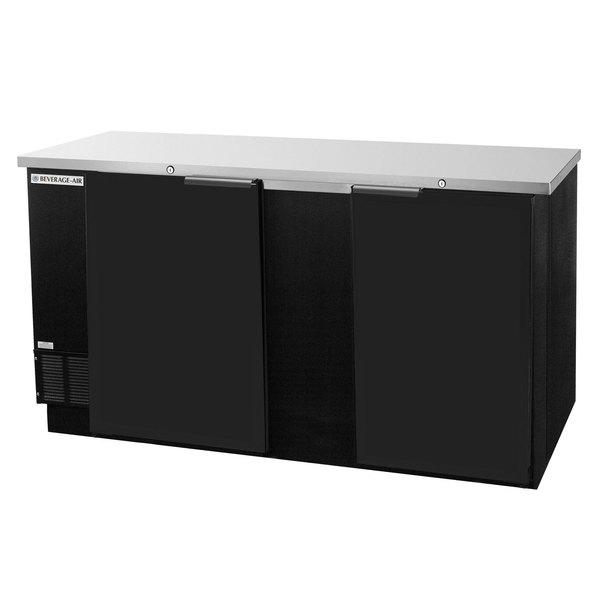 "Beverage-Air BB68-1-BK-WINE 68"" Black Solid Door Back Bar Wine Refrigerator Main Image 1"