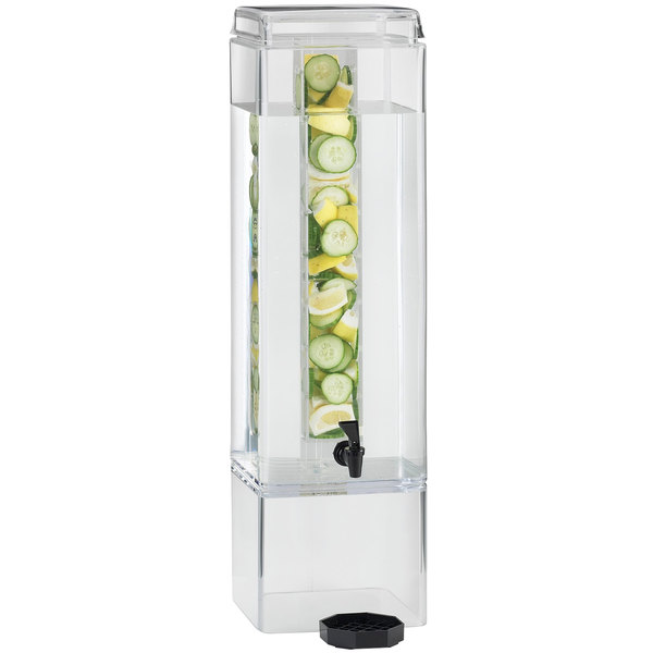 Cal-Mil 1112-3AINF 3 Gallon Square Infusion Acrylic Dispenser
