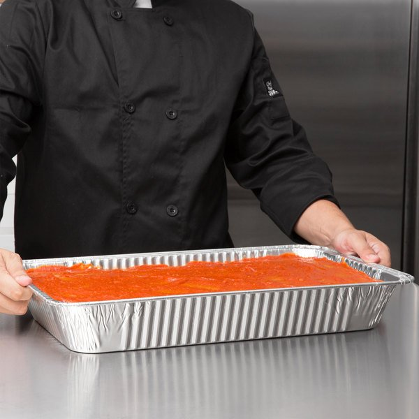 Choice Full Size Foil Deep Steam Table Pan - 10/Pack