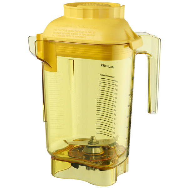Vitamix 60045 Advance 32 oz. Yellow Deluxe Tritan Copolyester Blender Jar for Vitamix Blenders Main Image 1