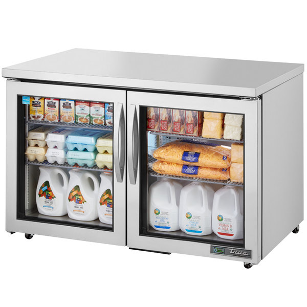 True TUC-48G-ADA-HC~FGD01 48 inch ADA Height Undercounter Refrigerator with Glass Doors