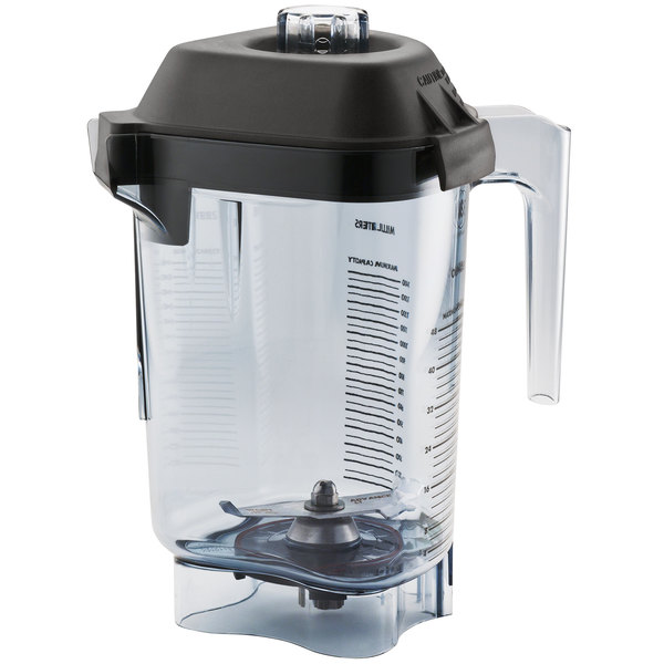 Vitamix 15978 Advance 48 oz. Clear Tritan Copolyester Deluxe Blender Jar with Lid and Wet Blade Assembly for Vitamix Blenders Main Image 1