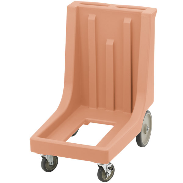 Cambro CD100HB157 Coffee Beige Camdolly for Cambro Camcarriers and Camtainers with Handle & Rear Easy Wheels
