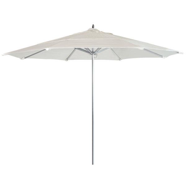 "Canvas Fabric California Umbrella AAT 118 SUNBRELLA 1A Rodeo Customizable 11' Round Push Lift Umbrella with 1 1/2"" Aluminum Pole - Sunbrella 1A Canopy"