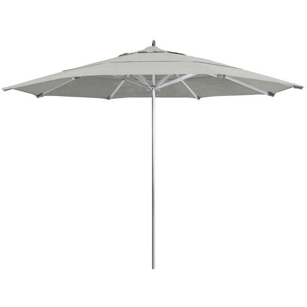 "Granite Fabric California Umbrella AAT 118 SUNBRELLA 1A Rodeo 11' Round Push Lift Umbrella with 1 1/2"" Aluminum Pole - Sunbrella 1A Canopy"
