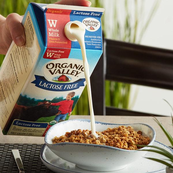 Organic Valley Half Gallon Lactose Free Organic Whole Milk - 6/Case Main Image 2