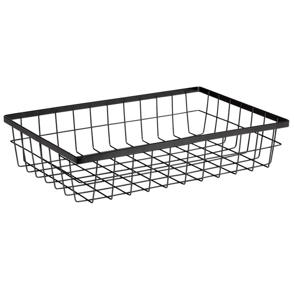 """GET Enterprises WB-1814-MG Urban Renewal 17 3/4"""" x 11 1/4"""" x 4"""" Metal Gray Rectangular Wire Basket"""