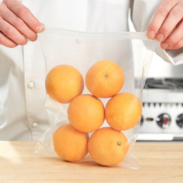 """Plastic Food Bag 8"""" x 10"""" Slide Seal - 250/Case"""