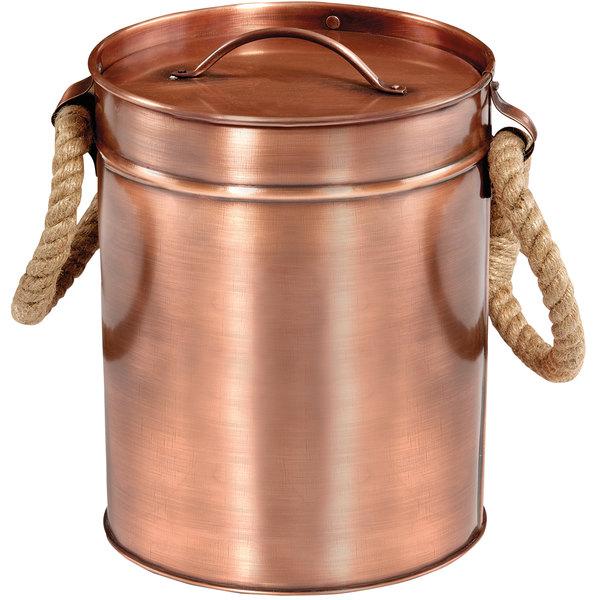 "GET Enterprises IB-88-ACPR 7 1/2"" x 10"" Copper Antique Ice Bucket"