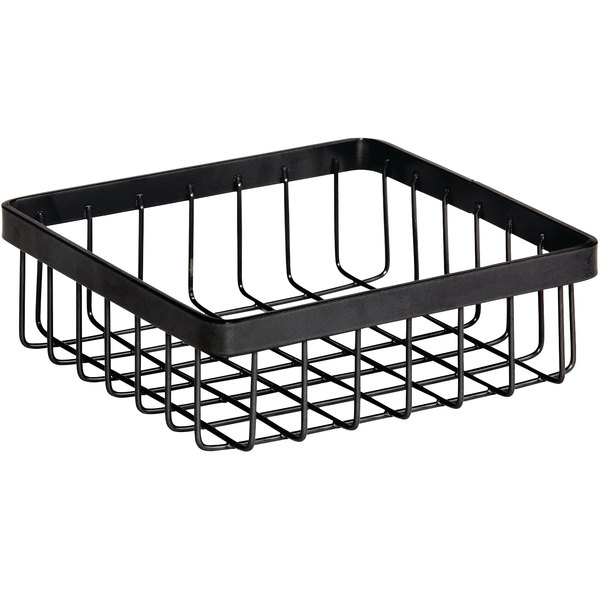 """GET Enterprises WB-662-MG Urban Renewal 6"""" x 6"""" x 2"""" Metal Gray Square Wire Basket"""