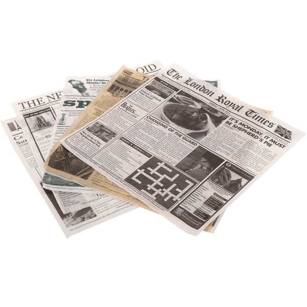 "GET Enterprises 4-Tvariety 12"" x 12"" Newsprint Liner Variety Pack - 1000/Case Main Image 1"