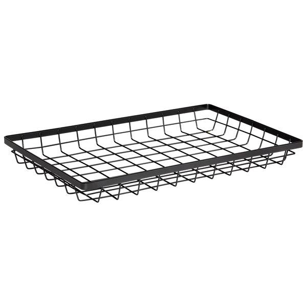 """GET Enterprises WB-1812-MG Urban Renewal 17 3/4"""" x 11 1/4"""" x 2"""" Metal Gray Rectangular Wire Basket"""