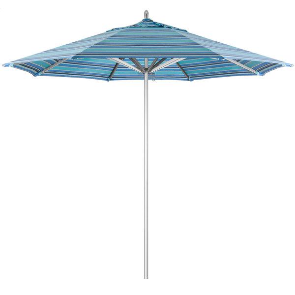 "Dolce Oasis Fabric California Umbrella AAT 908 SUNBRELLA 1A Rodeo 9' Round Push Lift Umbrella with 1 1/2"" Aluminum Pole - Sunbrella 1A Canopy"