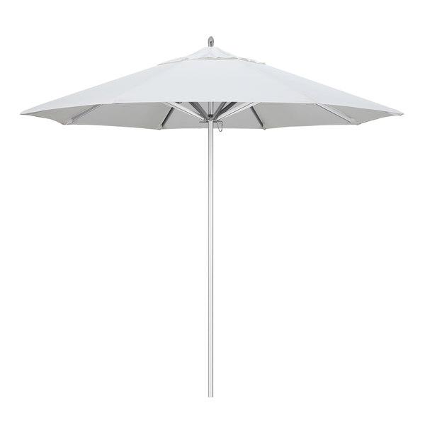 "Natural Fabric California Umbrella AAT 908 SUNBRELLA 1A Rodeo 9' Round Push Lift Umbrella with 1 1/2"" Aluminum Pole - Sunbrella 1A Canopy"