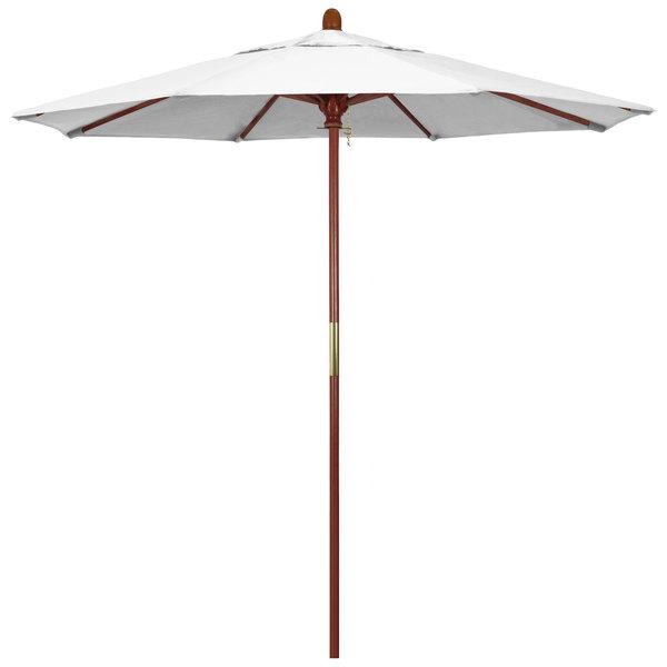 "Natural Fabric California Umbrella MARE 758 PACIFICA Grove 7 1/2' Round Push Lift Umbrella with 1 1/2"" Hardwood Pole - Pacifica Canopy"