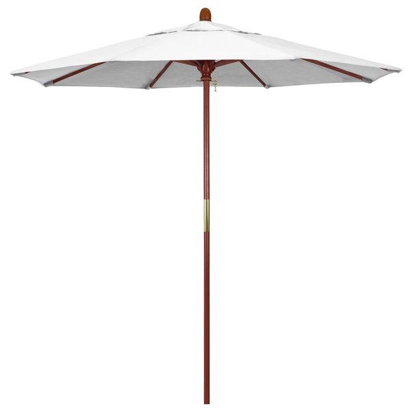 "Natural Fabric California Umbrella MARE 758 SUNBRELLA 1A Grove Customizable 7 1/2' Round Push Lift Umbrella with 1 1/2"" Hardwood Pole - Sunbrella 1A Canopy"