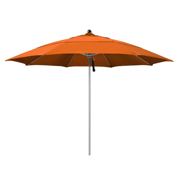 """Tuscan Fabric California Umbrella LUXY 118 PACIFICA Allure 11' Round Pulley Lift Umbrella with 1 1/2"""" Stainless Steel Pole - Pacifica Canopy"""