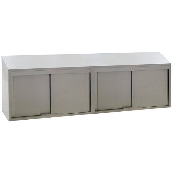 Eagle Group Wcs 96 Stainless Steel Wall Cabinet With Sliding Doors
