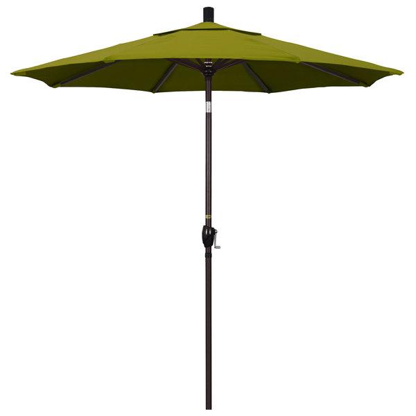"""Ginko Fabric California Umbrella GSPT 758 PACIFICA Pacific Trail 7 1/2' Crank Lift Umbrella with 1 1/2"""" Bronze Aluminum Pole"""
