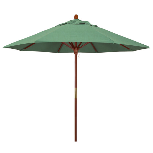 "Spa Fabric California Umbrella MARE 908 PACIFICA Grove 9' Round Push Lift Umbrella with 1 1/2"" Hardwood Pole - Pacifica Canopy"