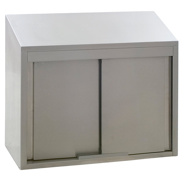 Eagle Group Wcs 24 Stainless Steel Wall Cabinet With Sliding Doors