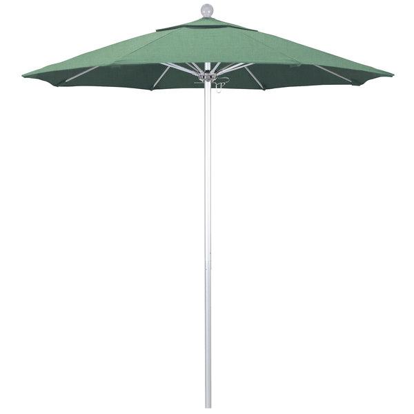 """Spa Fabric California Umbrella ALTO 758 PACIFICA Venture 7 1/2' Round Push Lift Umbrella with 1 1/2"""" Silver Anodized Aluminum Pole - Pacifica Canopy"""