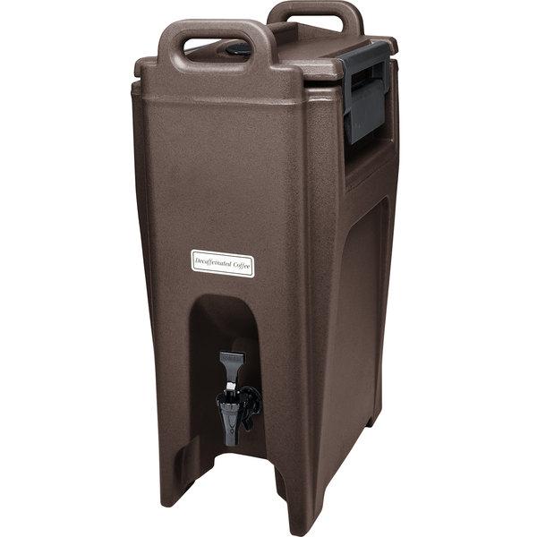 Cambro UC500131 Ultra Camtainers® 5.25 Gallon Dark Brown Insulated Beverage Dispenser Main Image 1