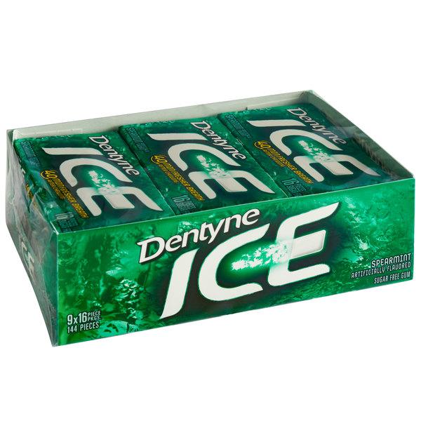 Dentyne Ice Spearmint Sugar-Free Gum 16-Piece Pack - 162/Case