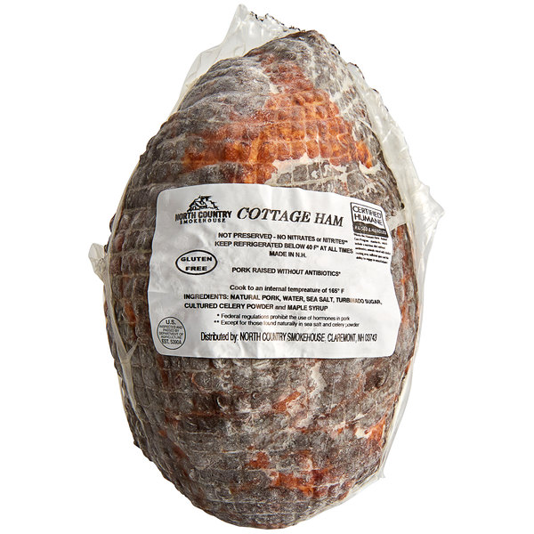 North Country Smokehouse 20 lb. Case Applewood Smoked Uncured Cottage Shoulder Bacon