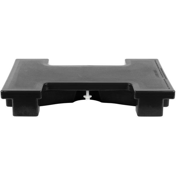 Cambro VBRC110 Black Straight Connector for Versa Food Bars Main Image 1