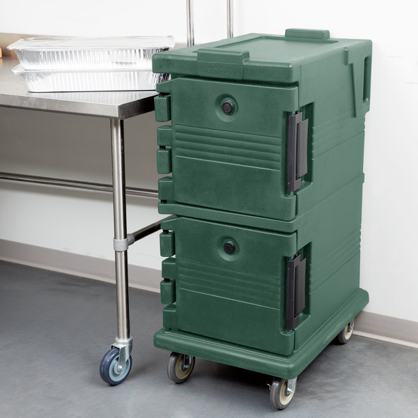 Cambro UPC600192 Ultra Camcarts® Granite Green Insulated Food Pan Carrier - Holds 8 Pans Main Image 5