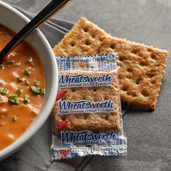 Nabisco Wheatsworth 2 Count (0.22 oz.) Stone Ground Wheat Crackers - 500/Case