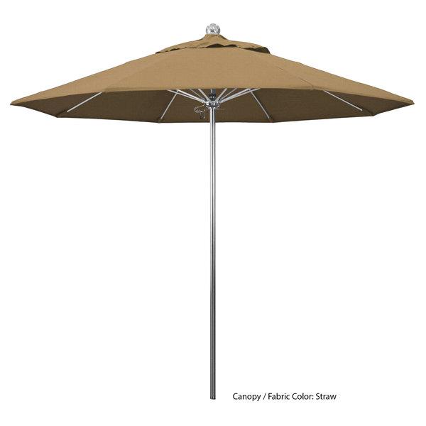 "California Umbrella LUXY 908 OLEFIN Allure 9' Round Push Lift Umbrella with 1 1/2"" Stainless Steel Pole - Olefin Canopy Main Image 1"