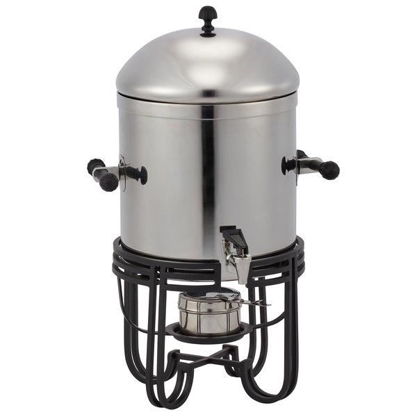 American Metalcraft MESABUSS13 3.25 Gallon (52 Cup) Round Stainless Steel Coffee Chafer Urn with Mirrored Finish Main Image 1
