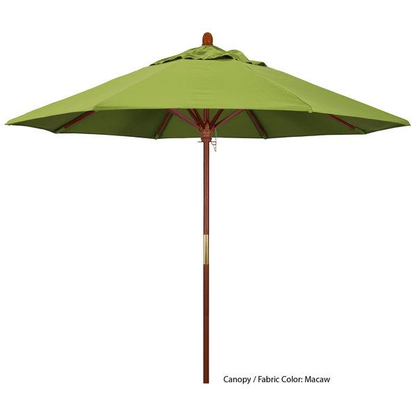 "California Umbrella MARE 908 SUNBRELLA 2A Grove 9' Round Push Lift Umbrella with 1 1/2"" Hardwood Pole - Sunbrella 2A Canopy Main Image 1"