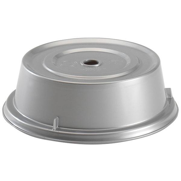 """Cambro 1101CW486 Camwear 11"""" Silver Metallic Camcover Plate Cover - 12/Case"""