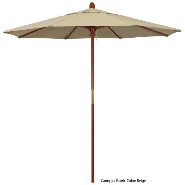 "California Umbrella MARE 758 PACIFICA Grove 7 1/2' Round Push Lift Umbrella with 1 1/2"" Hardwood Pole - Pacifica Canopy"