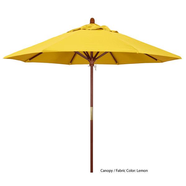 "California Umbrella MARE 908 OLEFIN Grove 9' Round Push Lift Umbrella with 1 1/2"" Hardwood Pole - Olefin Canopy Main Image 1"
