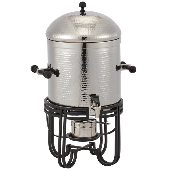 American Metalcraft MESABUSH13 3.25 Gallon (52 Cup) Round Hammered Stainless Steel Coffee Chafer Urn Main Image 1